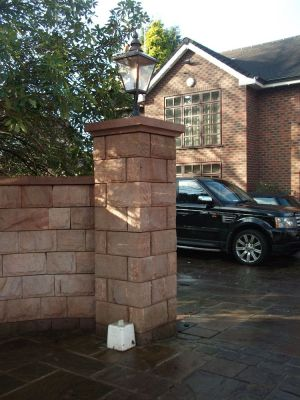Pitched Face Gatepost