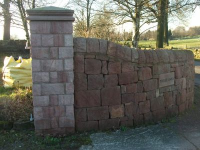 Pitched Faced Gatepost with Random Walling