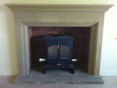 Buff Fireplace